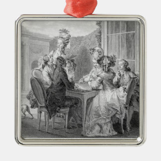 The Whist Party, 1783, engraved by Jean Dambrun (1 Metal Ornament