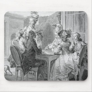 The Whist Party, 1783, engraved by Jean Dambrun (1 Mouse Pad
