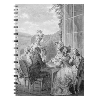 The Whist Party, 1783, engraved by Jean Dambrun (1 Notebook