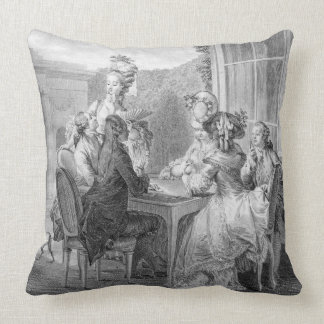 The Whist Party, 1783, engraved by Jean Dambrun (1 Pillows