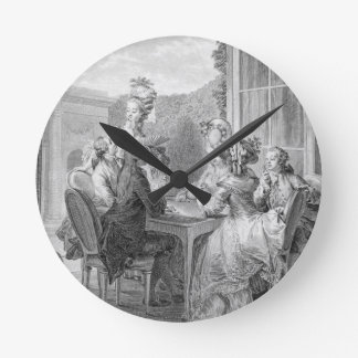 The Whist Party, 1783, engraved by Jean Dambrun (1 Round Clock
