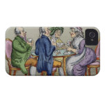 The Whist Party (colour litho) iPhone 4 Cases
