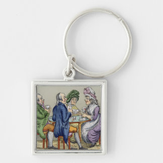 The Whist Party (colour litho) Key Chain