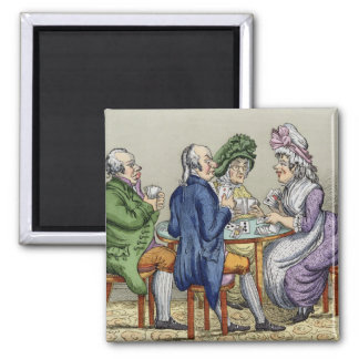 The Whist Party (colour litho) Magnet