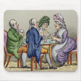 The Whist Party (colour litho) Mouse Pad