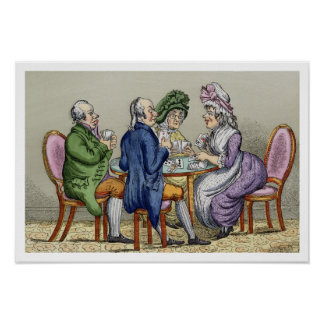The Whist Party (colour litho) Poster