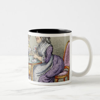 The Whist Party (colour litho) Two-Tone Coffee Mug