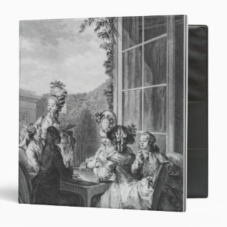 The whist party, engraved by Jean Dambrun  1783 3 Ring Binder