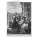 The whist party, engraved by Jean Dambrun  1783 Card