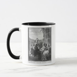 The whist party, engraved by Jean Dambrun  1783 Mug
