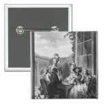 The whist party, engraved by Jean Dambrun  1783 Pinback Button