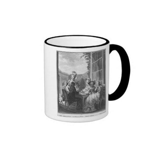 The whist party, engraved by Jean Dambrun  1783 Ringer Mug