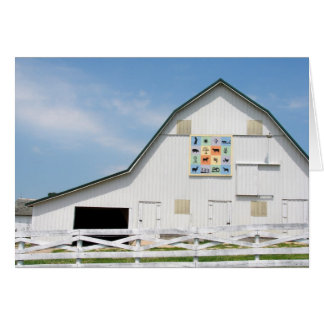 The White Barn with a Quilt Card