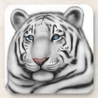 The White Bengal Tiger Cork Coaster