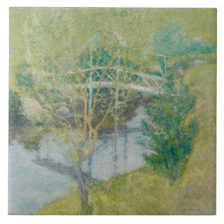 The White Bridge, c.1895 (oil on canvas) Ceramic Tile