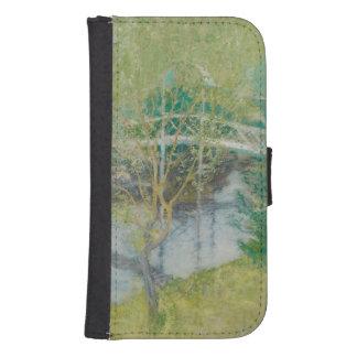 The White Bridge, c.1895 (oil on canvas) Samsung S4 Wallet Case