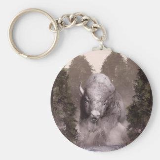 The White Buffalo Basic Round Button Keychain