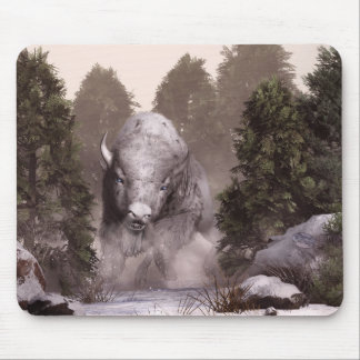 The White Buffalo Mouse Pad