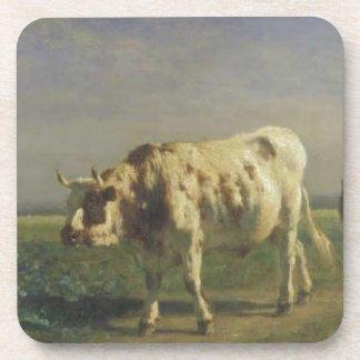 The white bull by Constant Troyon Drink Coaster