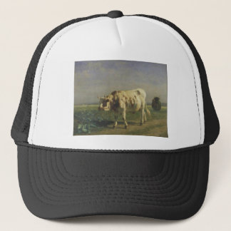 The white bull by Constant Troyon Trucker Hat