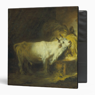 The White Bull in the Stable (oil on canvas) Binder