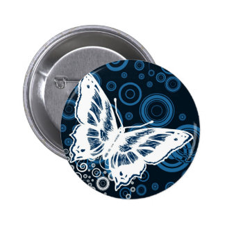 The White Butterfly Pinback Button