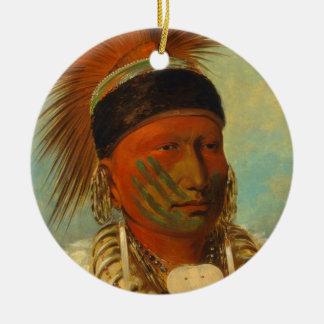 The White Cloud, Head Chief of the Iowas Ceramic Ornament