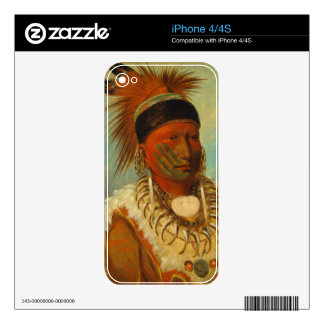 The White Cloud Head Chief of the Iowas iPhone 4S Decals