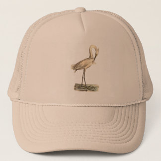 The White-crested Heron(Ardea candidissima) Trucker Hat