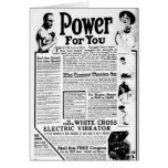 The White Cross Electric Vibrator Cards