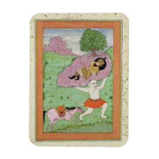 The White Demon carrying off the sleeping Rustam, Magnet