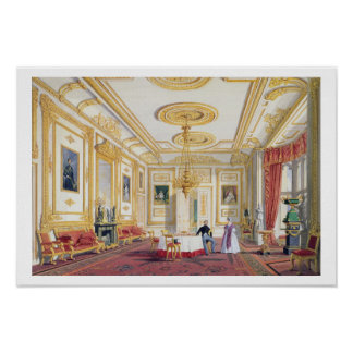 The White Drawing Room at Windsor Castle (colour l Poster