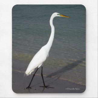 The White Egret Mousepad