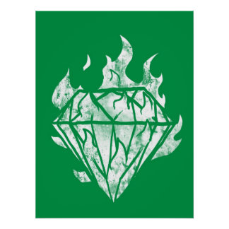 the white fire diamond is mine poster