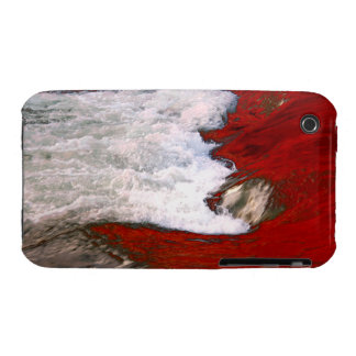 The white foam stops to the red lava river iPhone 3 case