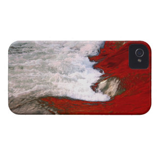 The white foam stops to the red lava river iPhone 4 cover