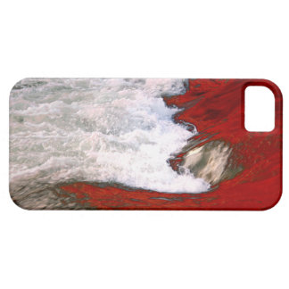 The white foam stops to the red lava river iPhone SE/5/5s case