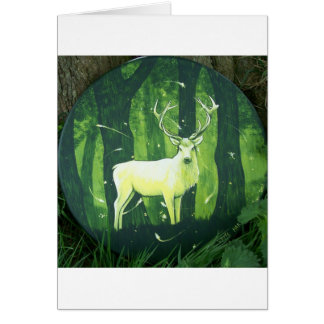 The White Hart Greeting Card