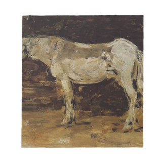 The White Horse by Eugene Boudin Notepads