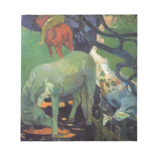 The White Horse by Paul Gauguin Memo Notepads