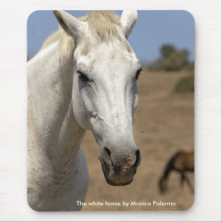 The white horse mouse pad