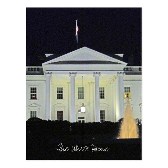 The White House at Night Washington DC 001 Postcard
