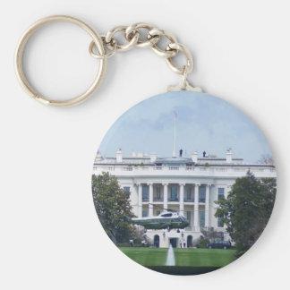 The White House Basic Round Button Keychain