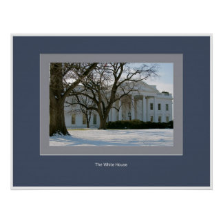 The White House Covered with Snow Poster
