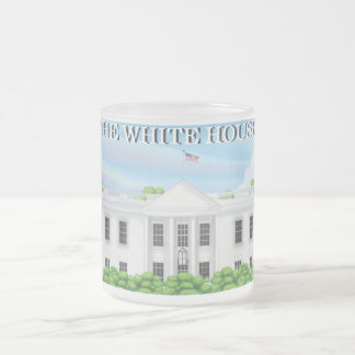 The White House Frosted Glass Coffee Mug