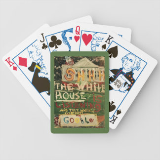 THE WHITE HOUSE IS LISTENING BICYCLE PLAYING CARDS