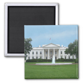 The White House - Northern Facade 2 Inch Square Magnet