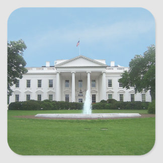 The White House - Northern Facade Square Sticker