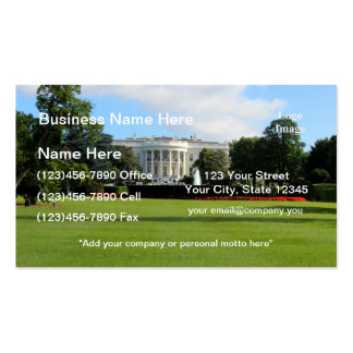 The White House Photo Double-Sided Standard Business Cards (Pack Of 100)