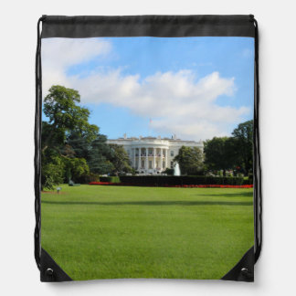 The White House Photo Drawstring Backpack